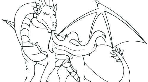 500x280 New Flying Dragon Coloring Pages Or Dragon Coloring Books Also