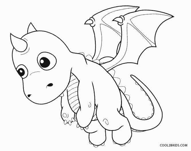 666x526 Printable Dragon Coloring Pages For Kids