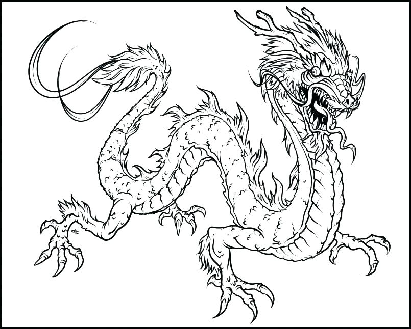 805x646 Coloring Pages Of Dragons Flying Dragon Coloring Pages Dragon