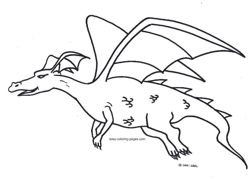 842x598 Cute Spring Flower Coloring Pages Flying Dragon