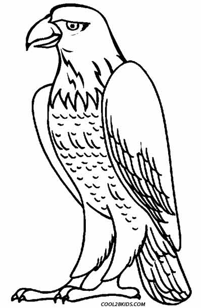 398x610 Printable Eagle Coloring Pages For Kids