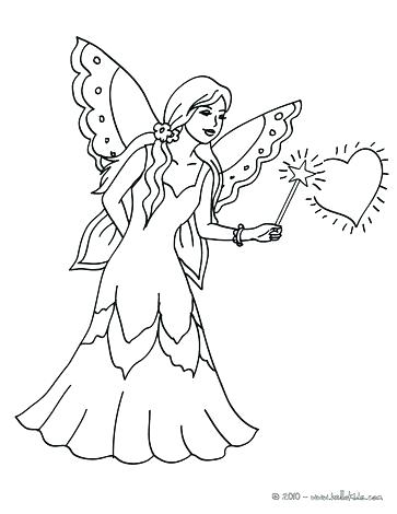 363x470 Fairy Coloring Pages For Kids Coloring Page Fairy Fairy Magic