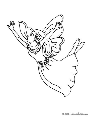 363x470 Fairy Flying Coloring Pages