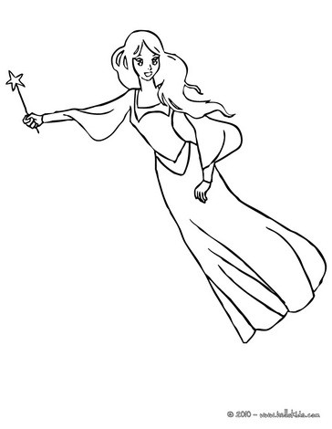 364x470 Fairy Magic Flying Coloring Pages