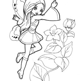268x268 Flying Fairy Free Coloring Pages For Kids Free Fairy Pictures