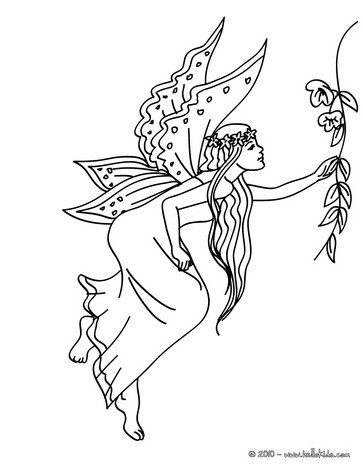 363x470 Group Of Fairies Flying Coloring Pages