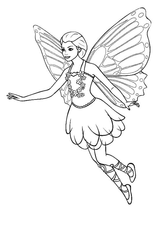 554x778 Pictures Flying Fairy Coloring Pages