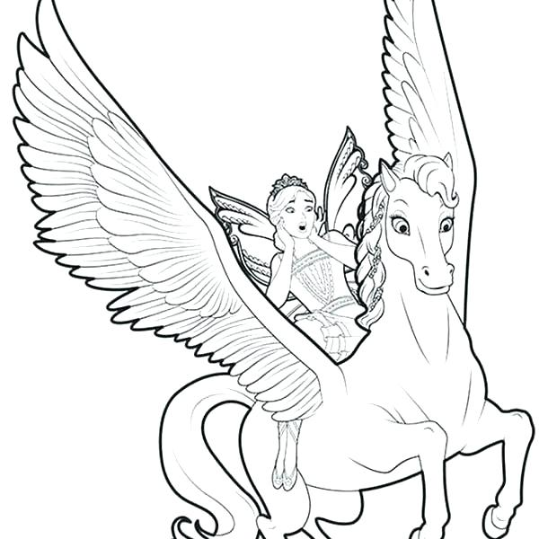 600x600 Unicorn And Fairy Coloring Pages Professional