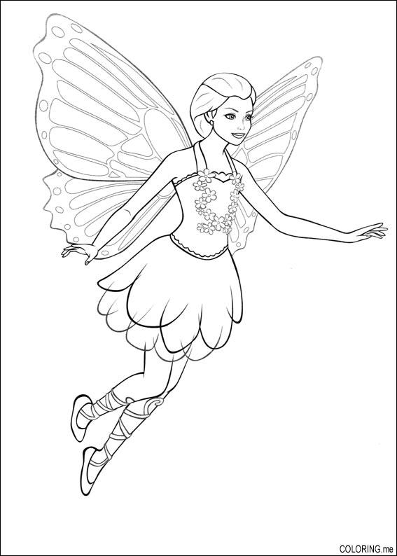 567x794 Coloring Page Barbie Magic Pegasus Fairy Fly