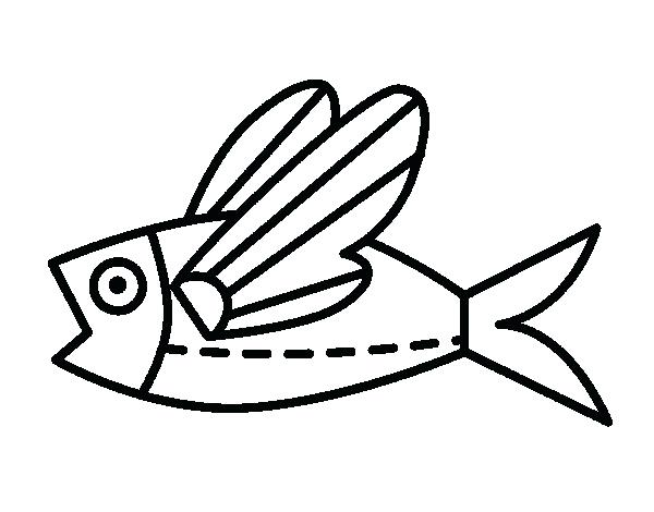 600x470 Flying Fish Coloring Page Flying Fish Coloring Page Coloring Pages