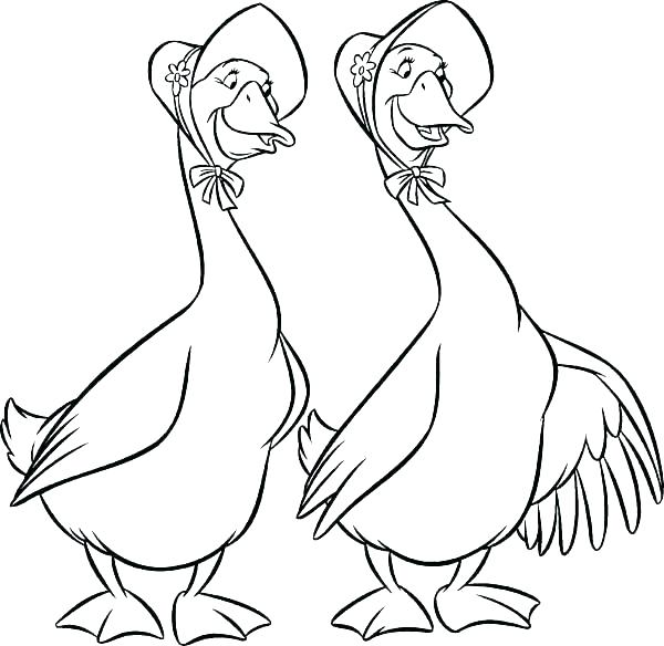 600x584 Goose Coloring Page Image For Had A Little Lamb Coloring Page
