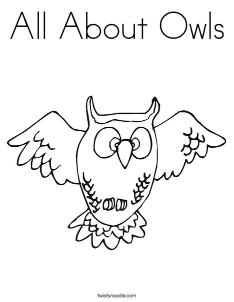 468x605 All About Owls Coloring Page