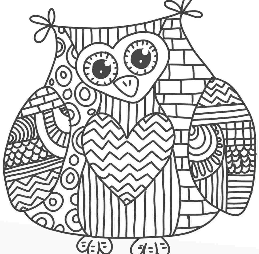 1101x1080 Owl Coloring Pages For Toddlers Free Printable Animals Hard Adults