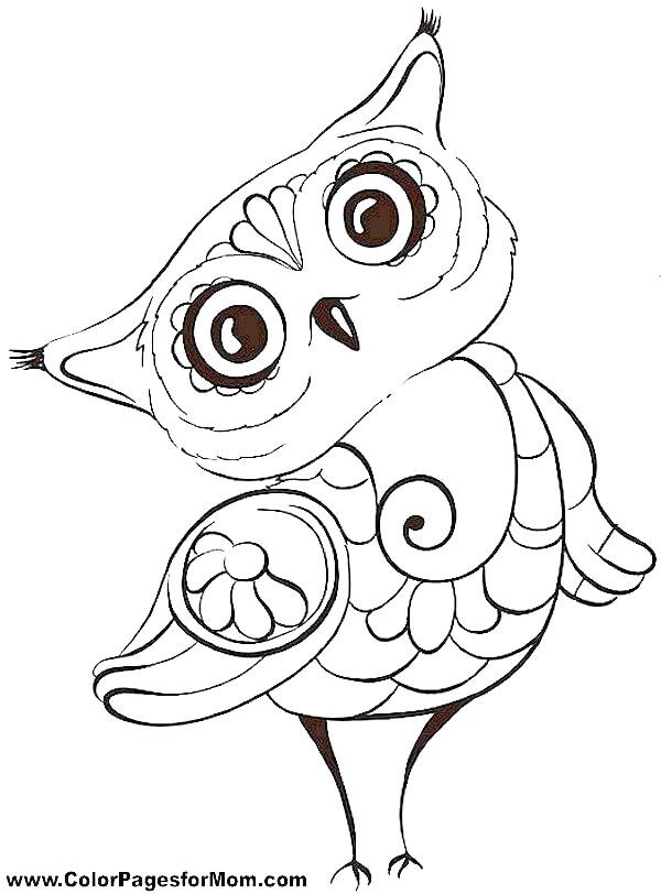 600x812 Printable Owl Coloring Pages Owl Coloring Pages For Adults Free