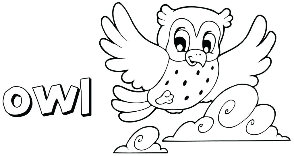 1024x545 Cartoon Owl Coloring Pages Owl Coloring Pages Flying Cute Free