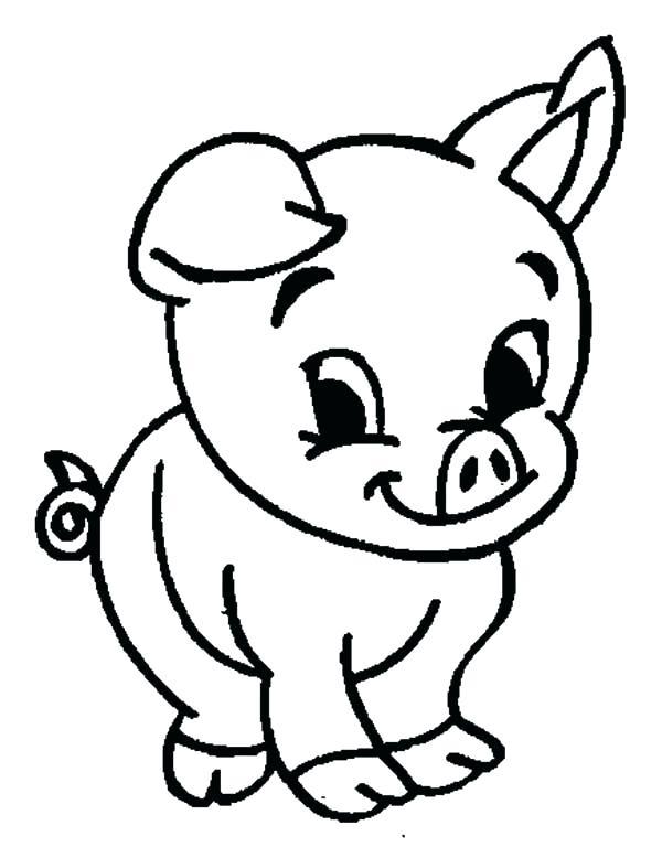 600x768 Coloring Page Of A Pig Coloring Pig Coloring Page Pig Coloring