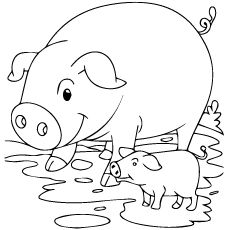 230x230 Flying Pig Coloring Pages Free Printable Sewing
