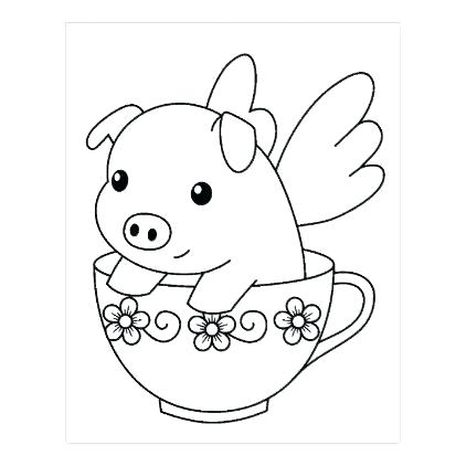 422x422 Pig Coloring Pages Best Flying Pig Coloring Pages Minecraft Pig