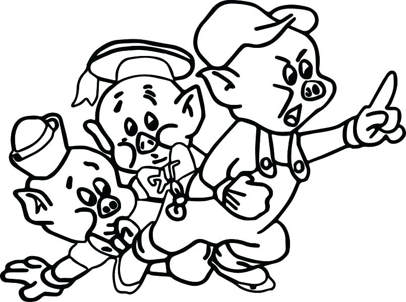 805x599 Coloring Pages Of Pigs Coloring Pages Of Pigs And Piglets Pictures