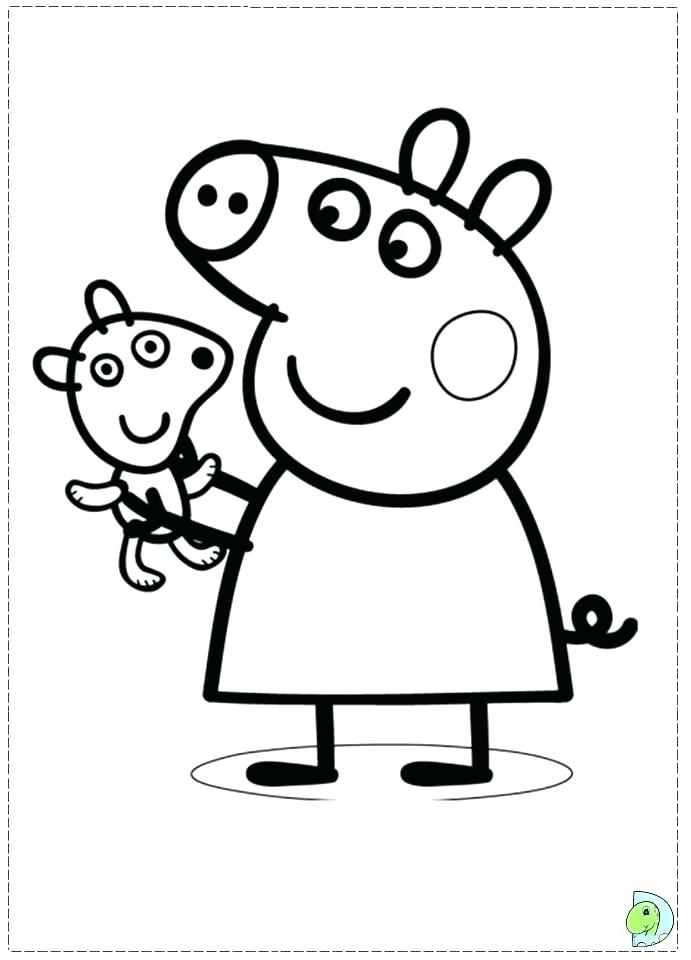 691x960 Coloring Pages Pigs Coloring Page Of A Pig Pig Birthday Coloring