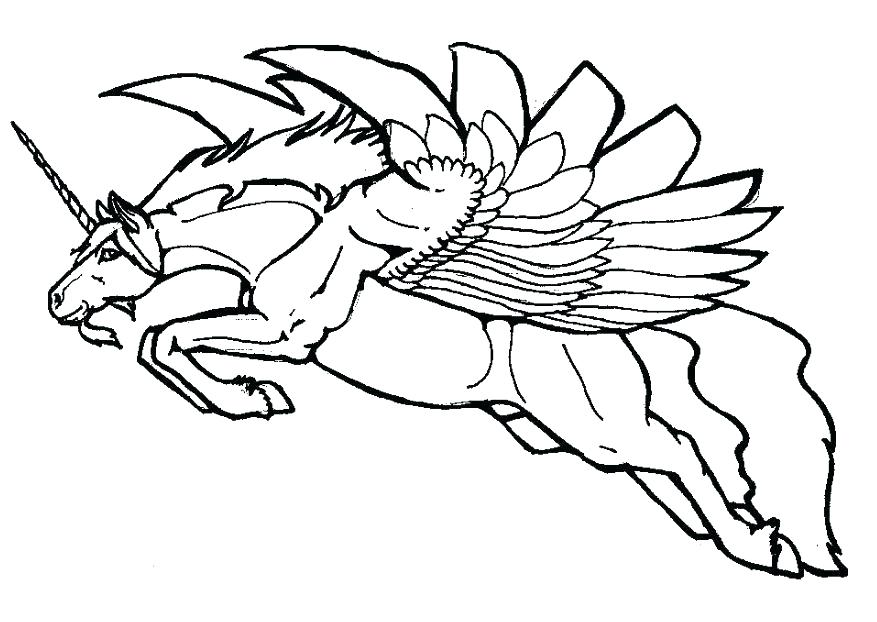 877x622 Kids Coloring Pages Free Coloring Flying Unicorn Coloring Pictures