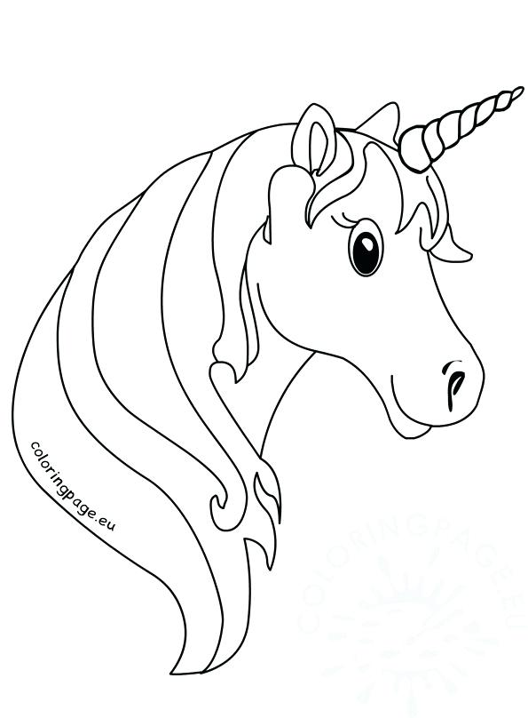 595x808 Picture Of A Unicorn To Color Unicorn Face Coloring Pages For Kids