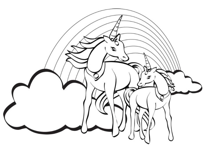 719x500 Prissy Ideas Free Unicorn Coloring Pages Wonderful Page