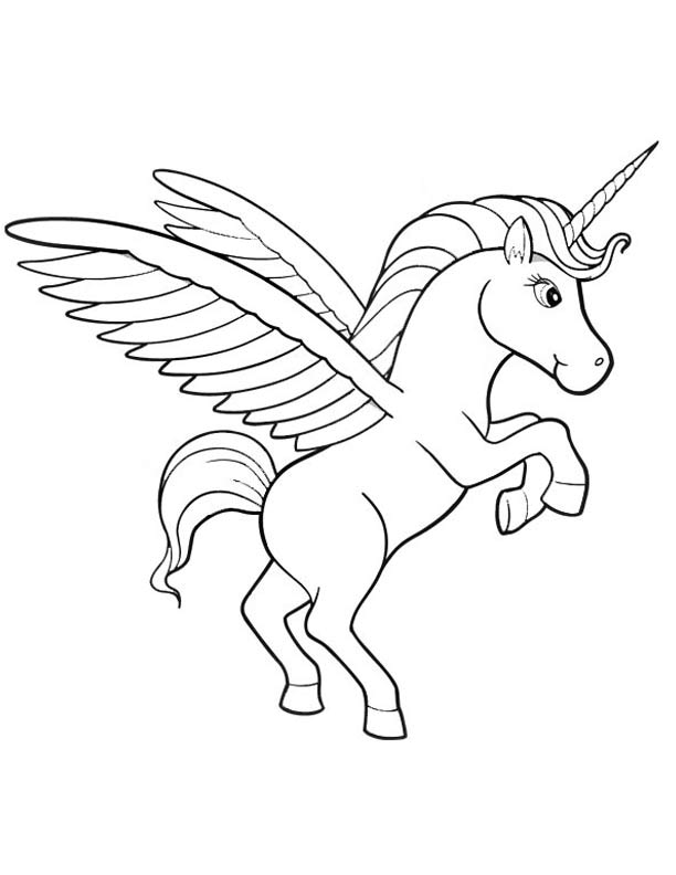 612x792 Unicorn Coloring Pages