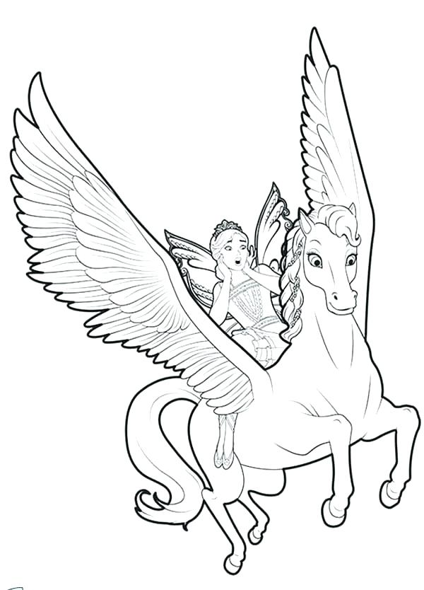 600x834 Unicorn Coloring Pages Printable Unicorn Coloring Pages Flying