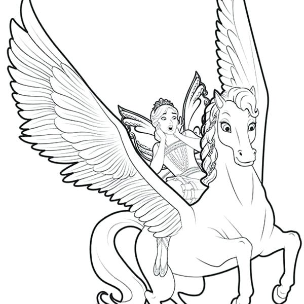 600x600 Unicorn Fairy Coloring Pages As Well As Flying Unicorn Coloring