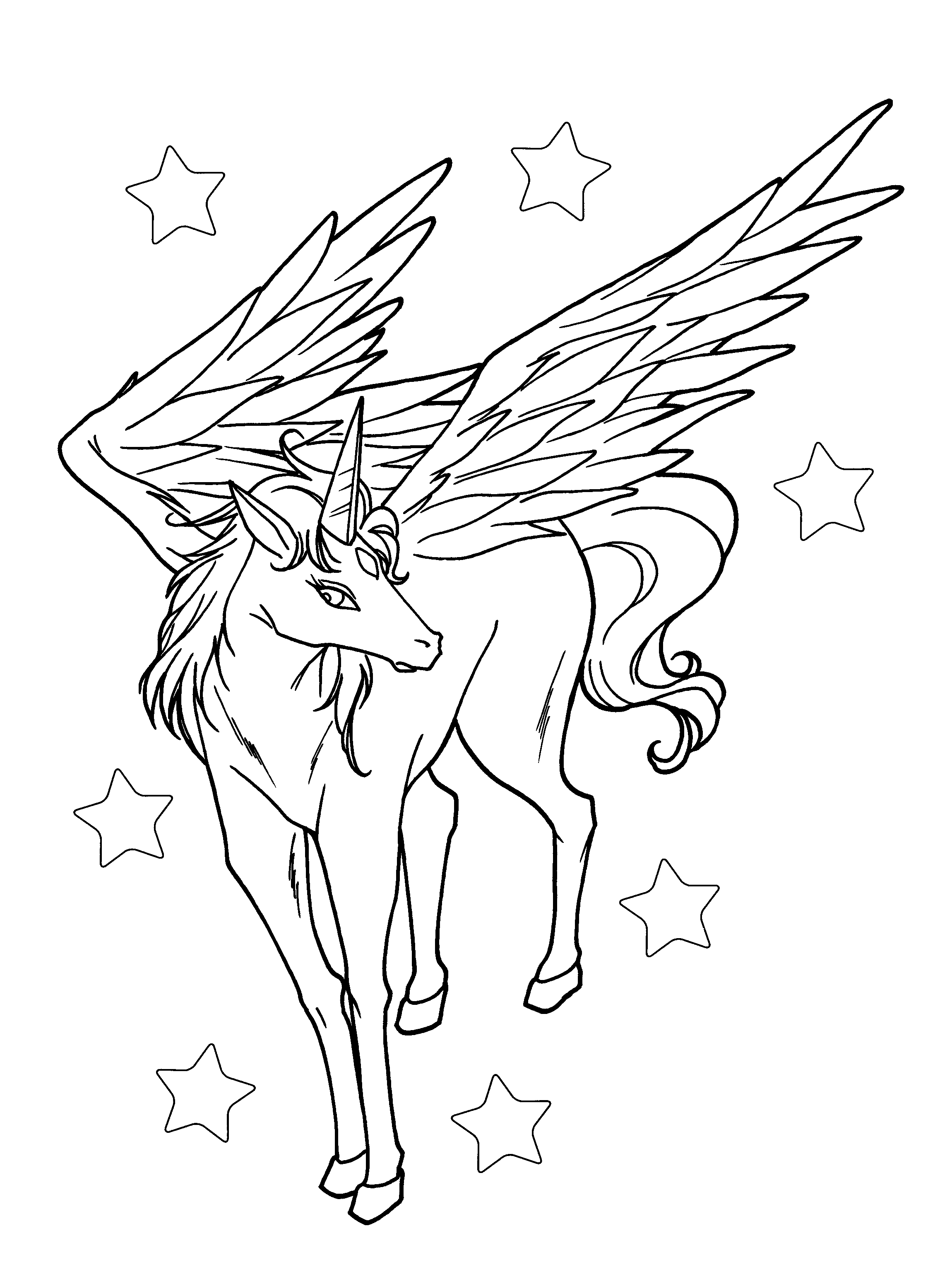 2300x3100 Best Of Realistic Flying Unicorn Coloring Pages Collection Free