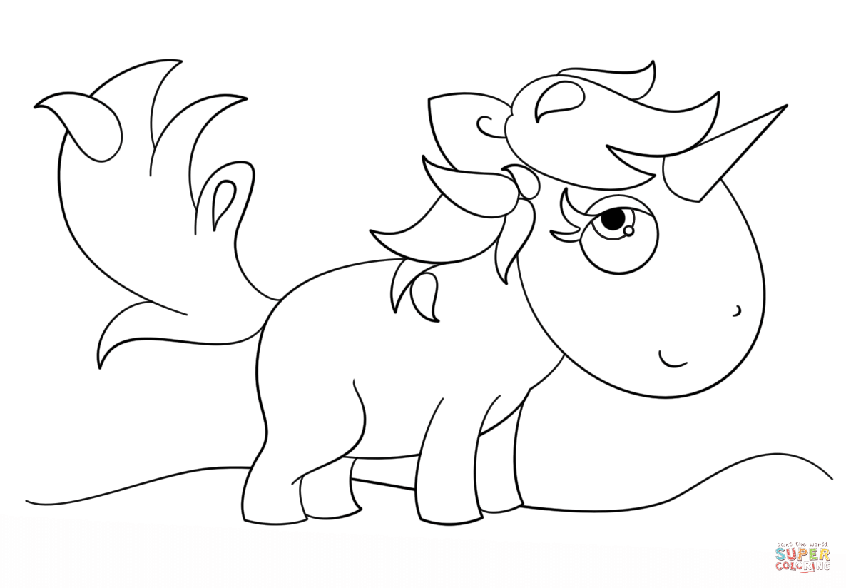 1186x824 Kawaii Unicorn Coloring Page Free Printable Coloring Pages Flying