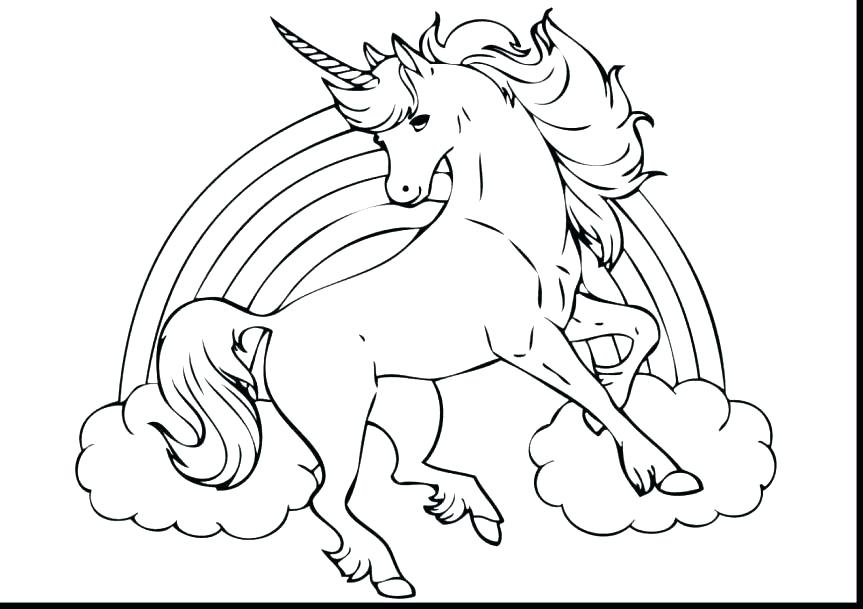 863x609 Unicorn Coloring Pages Printable