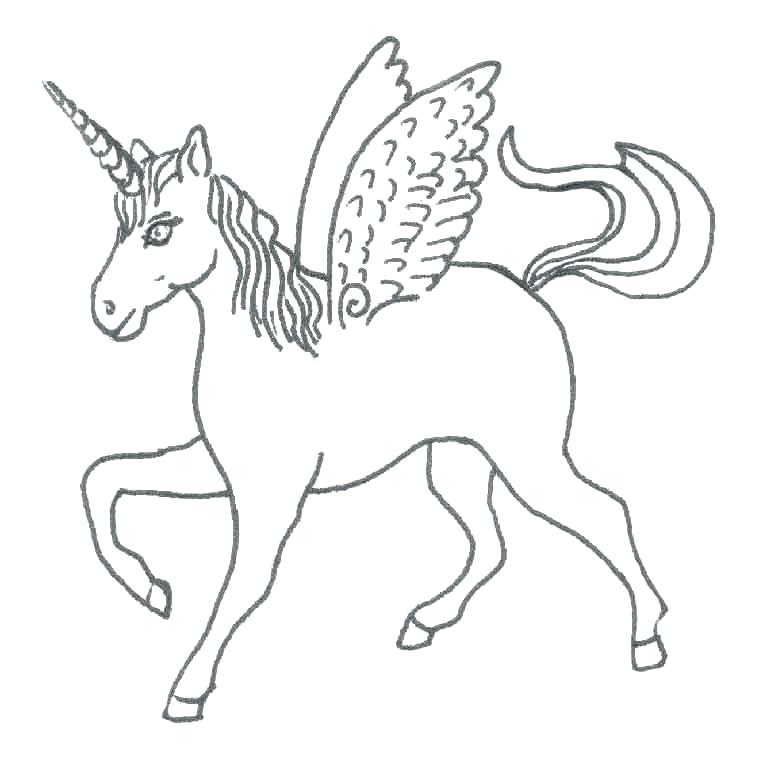 763x783 Unicorn Coloring Pages