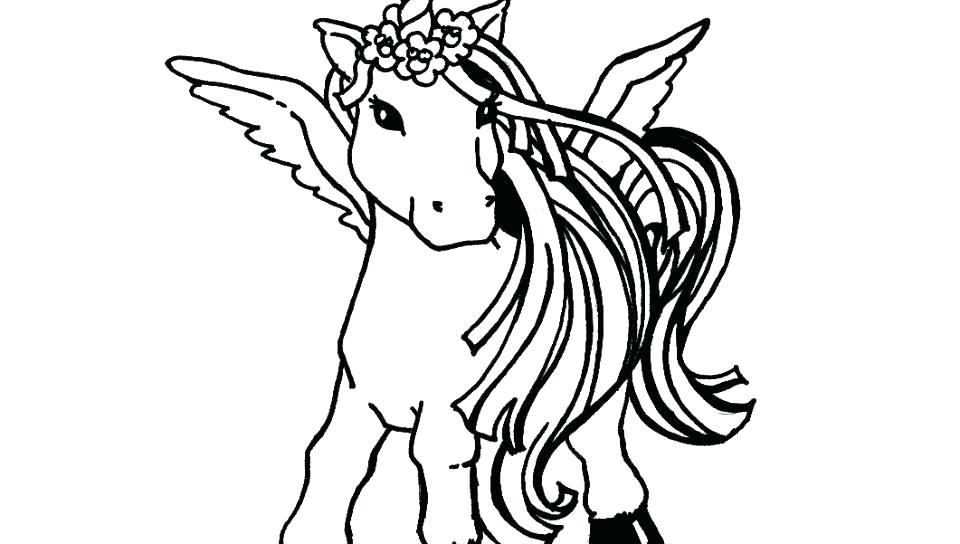 960x544 Flying Unicorn Coloring Pages Free Together Page For Kids Fantasy