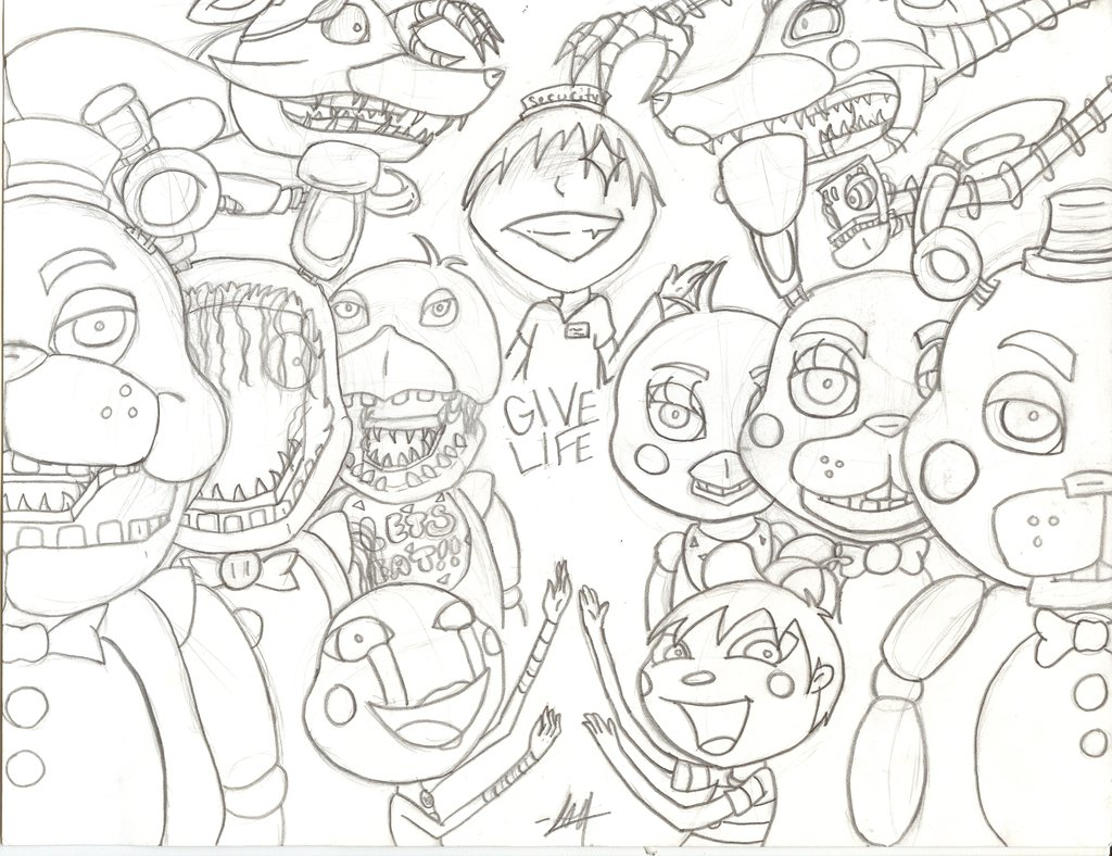 picture relating to Five Nights at Freddy's Printable Coloring Pages named Fnaf Coloring Internet pages All Figures at  Absolutely free