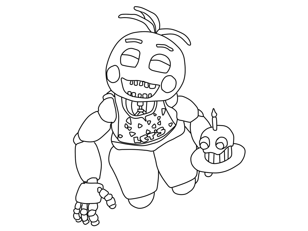 Fnaf Coloring Pages Chica at GetDrawings com | Free for