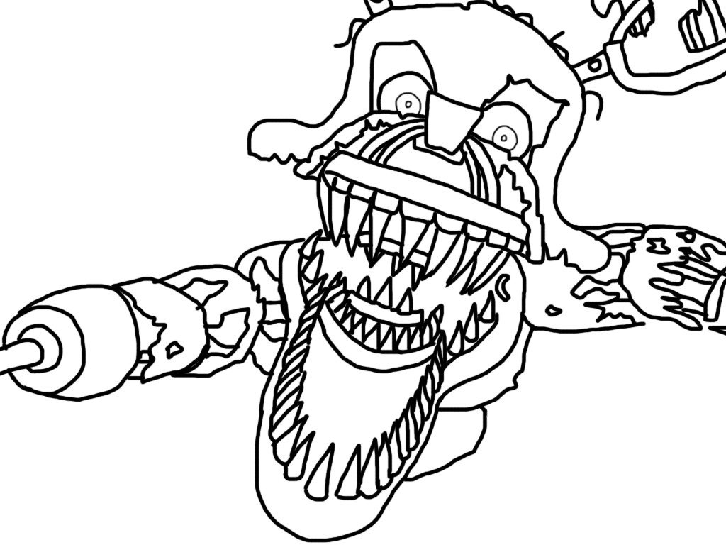 Five Nights at Freddy's Coloring Pages Springtrap - Get Coloring Pages | 768x1024