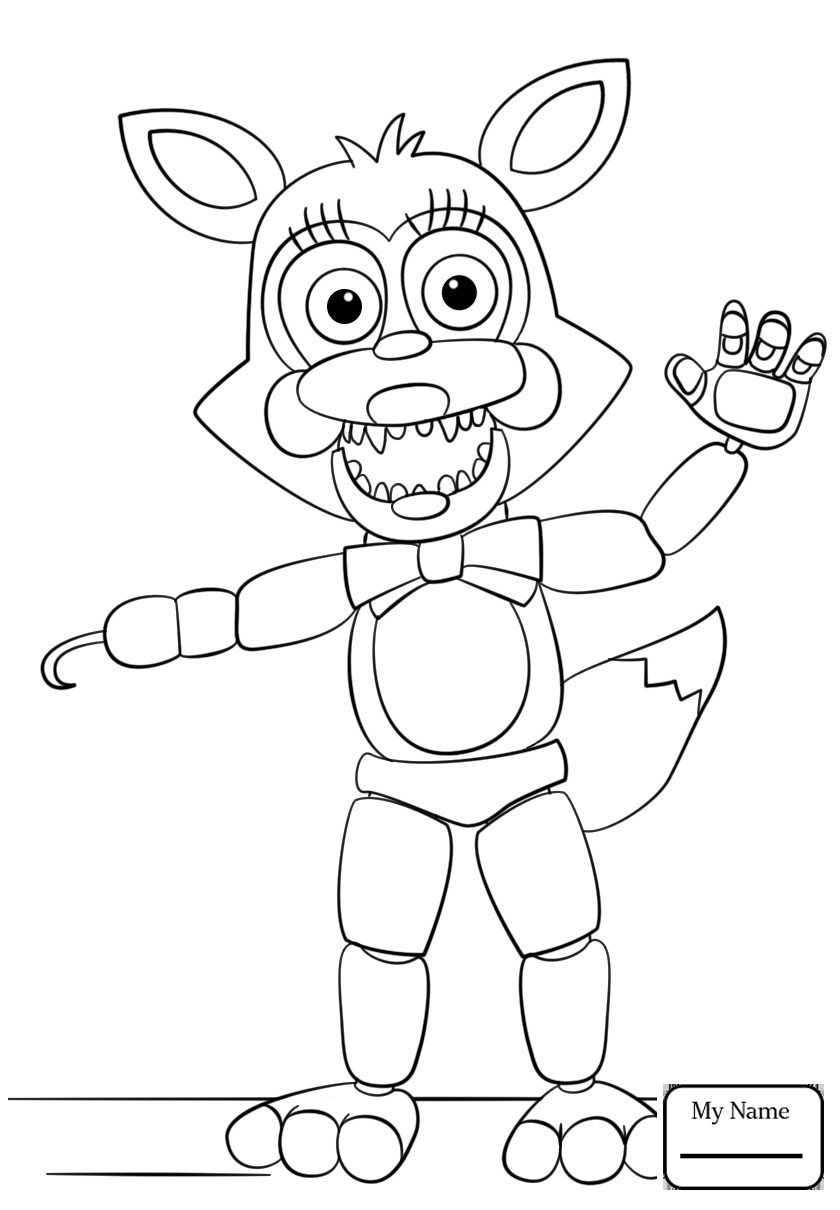 840x1210 Fnaf Coloring Pages Foxy To Print Q Toy Five Nights At Freddys