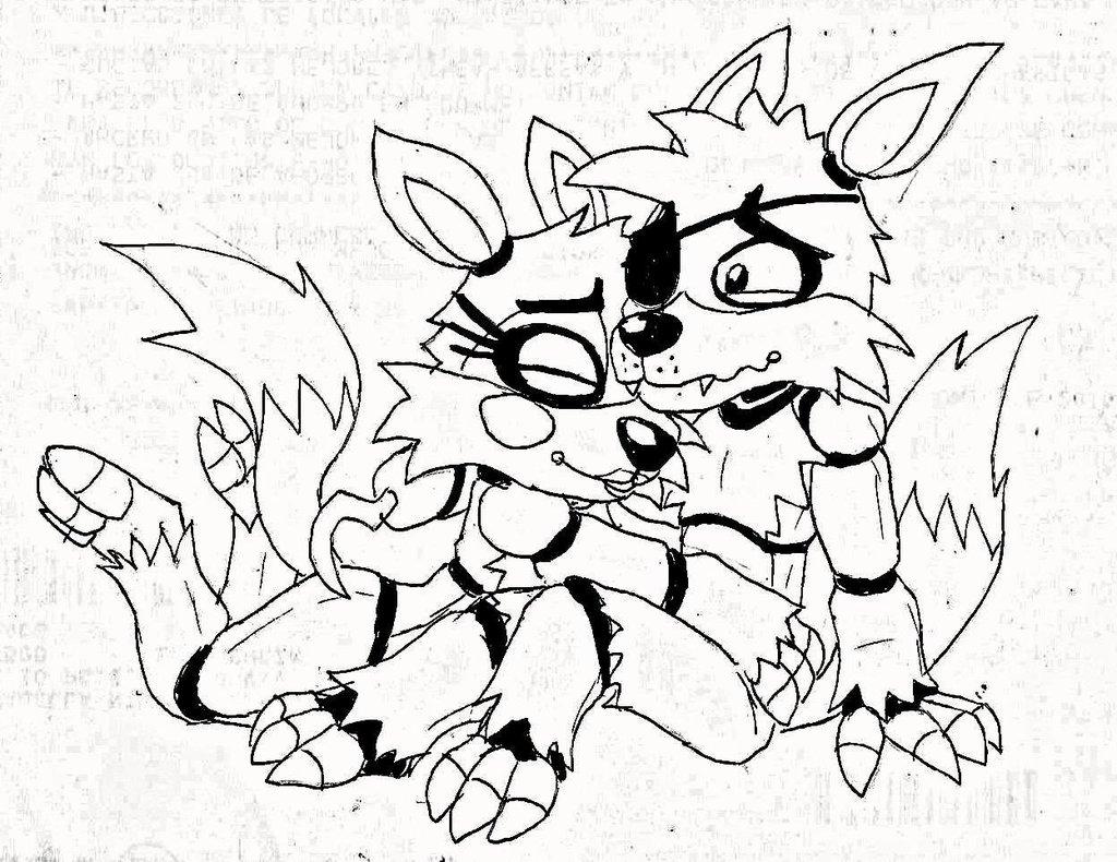 1024x790 Fnaf Toy Mangle Coloring Pages A Story Colouring Book Alltoys