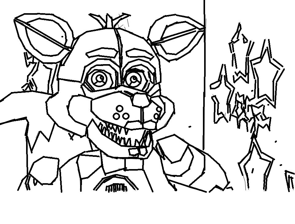 961x730 Foxy Coloring Funtime Foxy Coloring Page