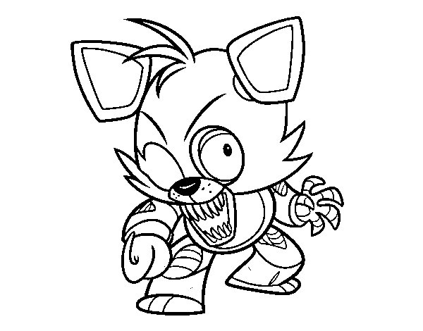 600x470 Foxy From Five Nights At Freddys Coloring Page Coloringcrew Foxy