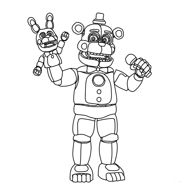 600x600 Free Printable Five Nights At Freddy's Coloring Pages