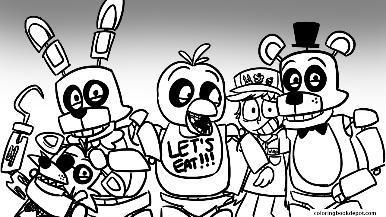 1280x719 Special Five Nights At Freddy S Coloring Pages Foxy Fnaf Lets Eat