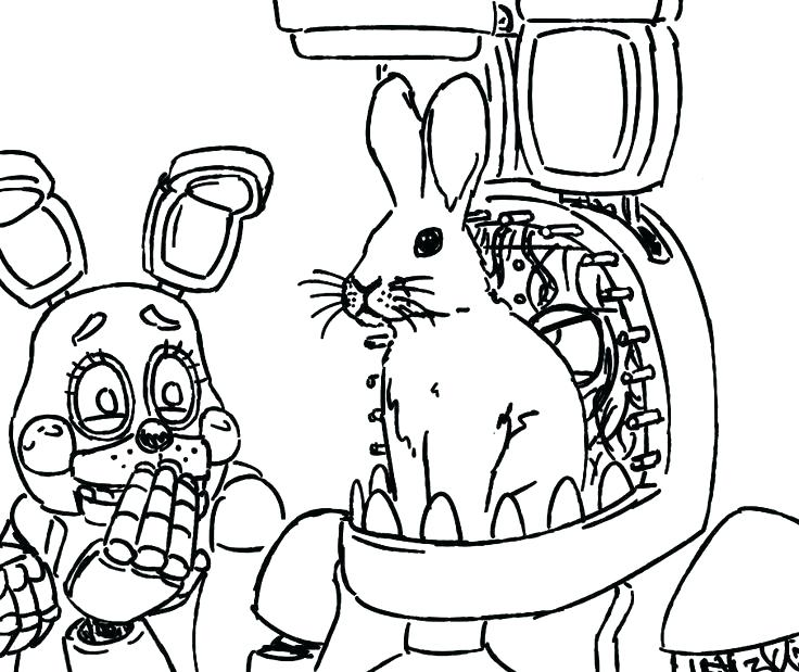 736x619 Unthinkable Fnaf Coloring Pages Fnaf Foxy Page Free Printable