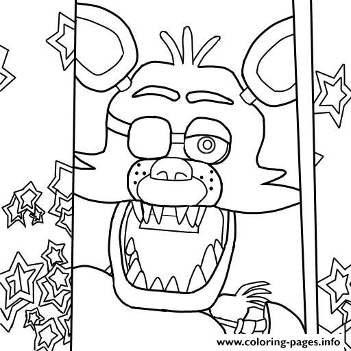 512x512 Fnaf Coloring Pages Online Print Fnaf Foxy To Color Coloring Pages