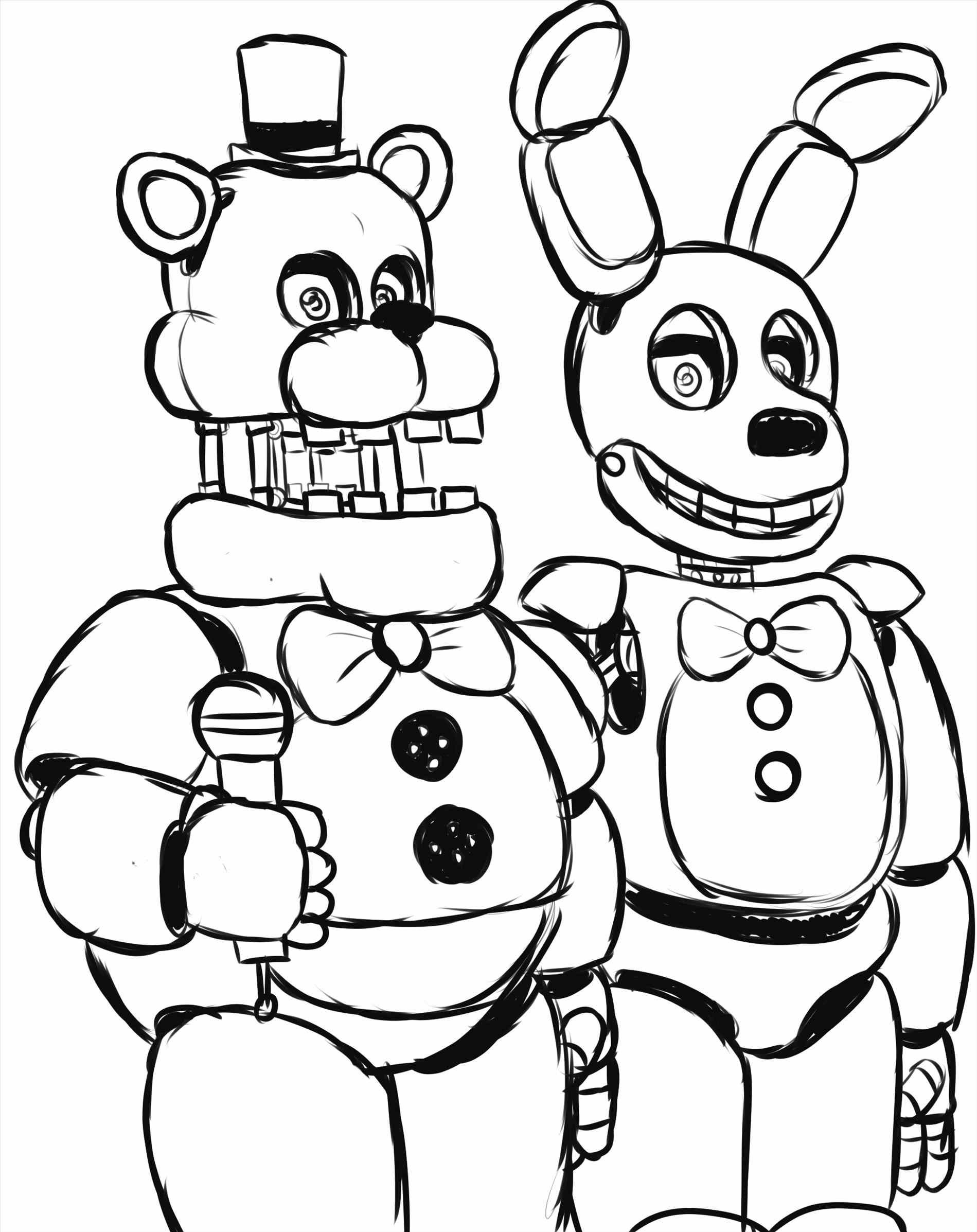1899x2394 Energy Fnaf Coloring Pages Bonnie Nights At Freddys