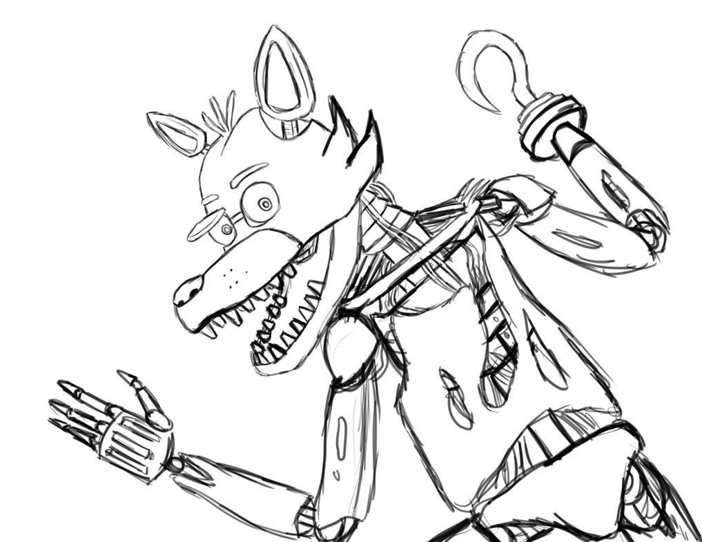 1017x786 Five Nights At Freddys Coloring Pages Foxy Remarkable
