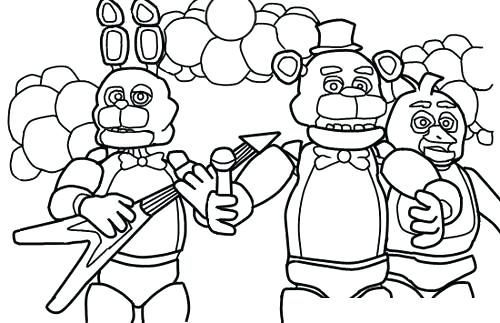 graphic about Free Printable Five Nights at Freddy's Coloring Pages titled Fnaf Coloring Webpages Free of charge at  Totally free for