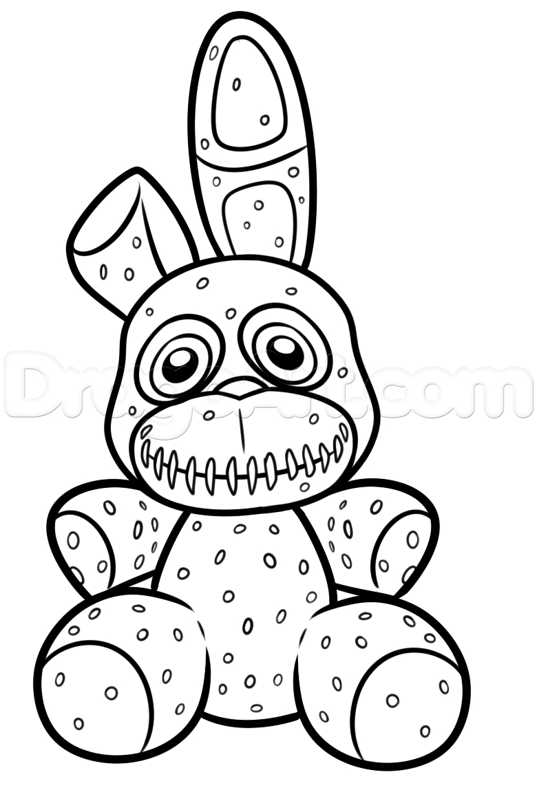 Fnaf Coloring Pages Mangle